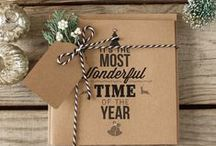 Kraft Christmas / Our love of eco friendly kraft stationery products continues with a wonderful Christmas flavour and rustic charm.