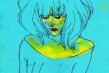 Faces and Bodies / Desenhos de rostos e corpos