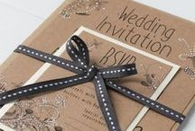 Kraft & White Stationery / The gorgeous combination of brown kraft stationery teamed with fresh white is something very special....We love the rustic wedding look and eco friendly wedding stationery.