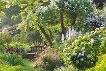 Zaubergärten / Zaubergärten wie aus dem Märchenwald. Blumen, Pflanzen, Gartengestaltung, Schaukel, Beete, Dekoration, Gartenideen