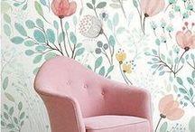 Muster / Wunderschöne Muster! Tapeten, Papier, Geschenkpapier, Wohnen, Einrichten Wandgestaltung, Wände, Blumenmuster, zarte Farben, Pastell, Pastellfarben