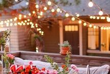 Backyard Patio Ideas / Design Ideas for Our Backyard Re-design + Imagery of life in the great outdoors: Outdoor furniture, patio pavers, cabins, fires, sailing, camping, lazy days, outdoor space, backyard, outdoor dining, picnics and more!