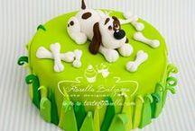 Dog charity cake