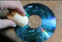 Rayones en los DVDs, CDs ¿? / Rayones en los DVDs, CDs, ¿? tan sólo hace falta un plátano para cerrar los rayones y que el DVD pueda leerse. Y Recuerden limpiarlo antes de volver a insertar en el reproductor.
