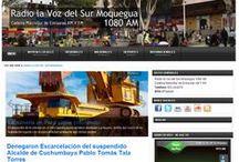 Radio la Voz del Sur Moquegua / #Moquegua Radio la Voz del Sur Moquegua Noticias, Ilo, Sánchez Cerro, Mariscal Nieto, Cadena MacroSur de Emisoras AM y FM