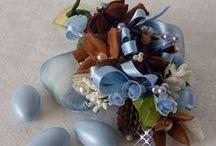 Wedding Biedermeier Favors Bomboniere e Porta Confetti / Bomboniere create con tecnica Biedermeier, creazioni del Lillà Bianco. Piccoli dettagli con candele, fiori e rose. Soluzioni ecogreen low cost.