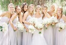 Bridesmaids / Damigelle d'onore. Abiti e bouquet