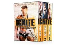 "IGNITE (Teasing Hands Box Set) / Teasing Hands: ""Undress for me.""  Taunting Lips: Her body was my greatest damnation.  ""I hate that I love you.""  Ignite (Bonus Scenes: Camden's First Game. How Camden Deals With The Inevitable. Camden's Special Gift."