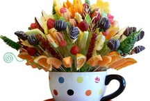 Ideas with sweets,fruits and flowers / by Judy Nava