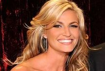 """Erin Andrews / Erin Jill Andrews (born May 4, 1978) is a gorgeous 5'10"""" and 125 pound American sportscaster, journalist, and television personality. She currently hosts FOX College Football for Fox Sports, as well as Dancing with the Stars for ABC. Erin has a tall athletic build with wide shoulders, large breasts, slim waist and small buttocks and a near perfect 36C-23-34 super bowl body. Erin has been voted """"America's sexiest sportscaster"""" for multiple years by Playboy magazine. / by Doc's Life"""