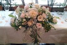 Ceremony / Top table floral arrangements / Floral arrangements