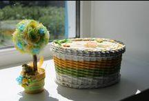 мое плетение из бумажной лозы / мои работы