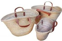 natural french baskets / handcrafted french market baskets  the ultimate sustainable product. women by farmers in morocco from fallen palm fronds. sturdy leather hanles from goat, cow or mutton. lightweight, strong, ideal for food shopping, a beach bag or weekender