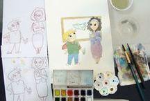 MAKING OF / Making of mostrando o processo de desenvolvimento de alguns trabalhos.
