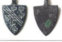 Horse Harness Pendants / A decorative element used on horses in period - these would make really nice tokens. Examples are of Scutiform shaped harness pendants - other shapes are possible. Most date from 1200 to1400