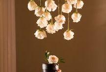 Hanging Floral designs, Lanterns, Lights & Drapes