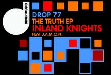 Drop Music Art / Various vinyl (+digital) label artworks for those masterful underground House Music producers, Andy Riley and Laurence Ritchie (aka Inland Knights) from Drop Music UK. Still keeping it real.