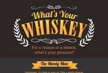 WHISKY ❁ BOURBON ❁ SCOTCH ❁ WHISKEY / Whisky je nápoj, jehož historie sahá až do 12. století. Základními surovinami pro výrobu whisky jsou ječmen, pramenitá voda a kvasinky. Na kvalitě a typu každé z nich záleží výsledná kvalita a chuť produktu. Irská whisky, třikrát destilovaná a po tři roky skladovaná v dubových sudech. Skotská whisky, dvakrát destilovaná z ječmene, který byl vysušen nad rašelinou. Kanadská whisky, většinou jemnější a z více druhů zrn. Americká whisky je nejčastěji destilovaná z kukuřice.