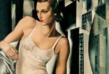 •TAMARA DE LEMPICKA• / My goal is never to copy. Create a new style, clear luminous colors and feel the elegance of the models. (Tamara de Lempicka)