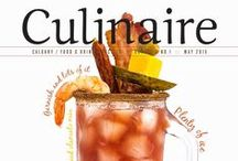 Culinaire   Drink   Food & Beverage / Culinaire is a free food and beverage magazine tempting tastebuds, engaging appetites, and celebrating Calgary - City of Culture. Sharing their secrets are chefs, sommeliers, brewers, mixologists, restaurateurs, and local food and beverage experts. Culinaire serves up features on dining in, dining out, wine, beer, spirits and cocktails, and pairing them all, along with local culinary events and festivals.