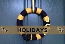 """UCF Holiday Decorations / Nothing says """"Happy Holidays"""" like a little black and gold decoration."""