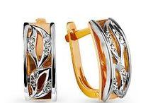Серьги золотые / Золотые серьги с бриллиантами, сапфирами, топазом, с фианитами или без вставок.