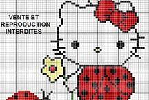 keresztszemes minták: Hello Kitty