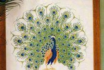 keresztszemes minták: madarak