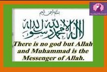 Shahada (Islamic Creed) / One of the five pillars of beautiful Islam. How great it is to believe Allah is one and only and Prophet Muhammad (PBUH) is His last messenger.  ALLAHU AKBAR!