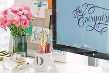 Home Office Inspiration / Create your own office at home using these tips and tricks!