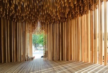 Wood architecture. / Wood used in houses and buildings. Façades, furniture, details.