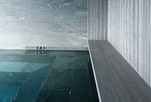 Water. / Water in architecture and landscape architecture. Lots of pools.