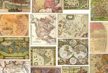 Vintage Maps  / Places I have been or want to go. Maps ancient and modern. Lead us in our journey.