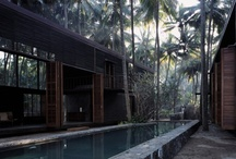 Tropical Architecture. / Houses and buildings built in tropical conditions, often with locally sourced materials and great indoor/outdoor living. I'm especially fascinated by the work of Brazilian architects like Marcio Kogan, Isay Weinfeld and Arthur Casas, ... and by the jungle houses of Studio Mumbai in India and South-East Asia.
