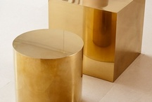 Copper & Brass / Copper & brass, used in interiors, furniture, lighting fixtures or details.