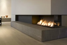 Fireplaces. / Contemporary fireplaces.
