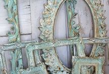 Home decor with ornate lines and beautiful flare. / Some of my ornate pieces