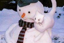 Lumiukot ja jääkoristeet