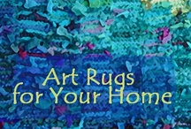 Rag Rugs, hand made in America / Abandoned clothing takes on a new life.  The rugs on this board have been created by hand from recycled t shirts and other old clothes.  For more information, visit www.rugsfromrags.com. Good news bad news:  the rugs are off the market, pending release of my next book....  (they're needed for the photography). / by Karen Tiede Art Rugs