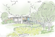 Curb Appeal Project: Northern Missouri  / These midwestern homeowners submitted a photo of their home along with some inspirational images. Our Curb Appeal design team created a perspective sketch showing a possible redesign that would fit their needs and aesthetic preferences.