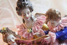 vintage half dolls porcelain