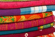 Kantha Quilts, pillows, furniture! LOVE IT!!! / Kantha quilts and pillows is my favorite home decor accessories! Nowadays they are everywhere! But what special about them is that there is no two exact same pieces. If you owe one no one will have the same. I love to spend time choosing them for my shop www.eyesofindia.com