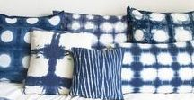 Indigo Blue / Indigo Blue Interior Decor Furniture Textiles Fabrics Indigo Prints Dyes