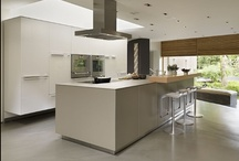 Kitchen Architecture case study : Private commission / bulthaup by Kitchen architecture case study - Private commission bulthaup b3 furniture in high gloss white acrylic and clay laminate with an oak bar.