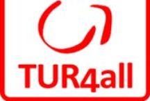 TUR4ALL / TUR4all es una aplicación accesible y gratuita promovida por la Fundación Vodafone España con el apoyo de PREDIF y del Real Patronato sobre Discapacidad.  El principal objetivo de esta aplicación es que las personas con discapacidad puedan disfrutar de las actividades turísticas y de ocio en las mismas condiciones que el resto de personas.