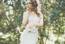 Bohemian Dresses / A boho wedding dress is effortless beauty with intricate lace, flower headbands, and beaded details. / by WeddingDresses.com