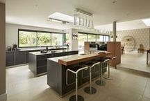 Kitchen Architecture bulthaup case study : Island living / bulthaup by Kitchen Architecture case study - Island living.Kitchen Architecture - bulthaup b3 furniture in graphite laminate and walnut with 10mm stainless steel work surfaces and a walnut bar.