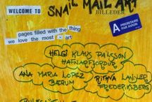 Mail-art-project / snail-mail-art / Helgi Klaus :Iceland Ana Maria : Norway Rithva : Denmark  Twincity#Frederiksberg#2015#