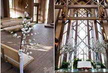 Elegant Cherry Blossom Military Wedding / An elegant military wedding with cherry blossom accents at Marty Leonard Chapel in Fort Worth TX