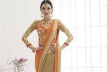 Saree / Buy Designer Indian Sari Online at www.bridesgalleria.com